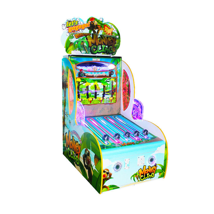 Monkey Climb Amusement Arcade Machines / Kids Game Machine Oem Service